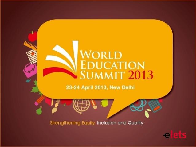 World Education Summit 2013
